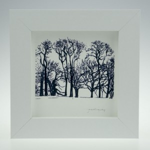 'Trees at Upton House-Black & White'