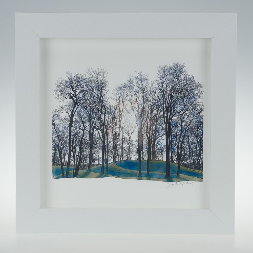 'Elizabethan Spiral Mound-framed print -Lyveden New Bield