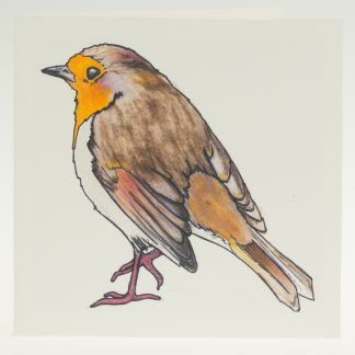 'Stoneywell Robin'-greeting card-Stoneywell Cottage