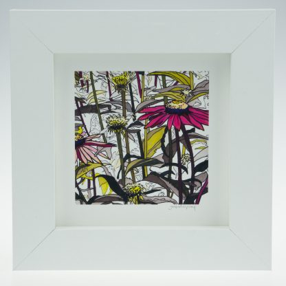 Flowerscape-Framed Prints - Small Square-Pensthorpe Natural Park