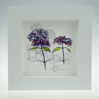'Purple Hydrangea'-framed print -Stoneywell Cottage