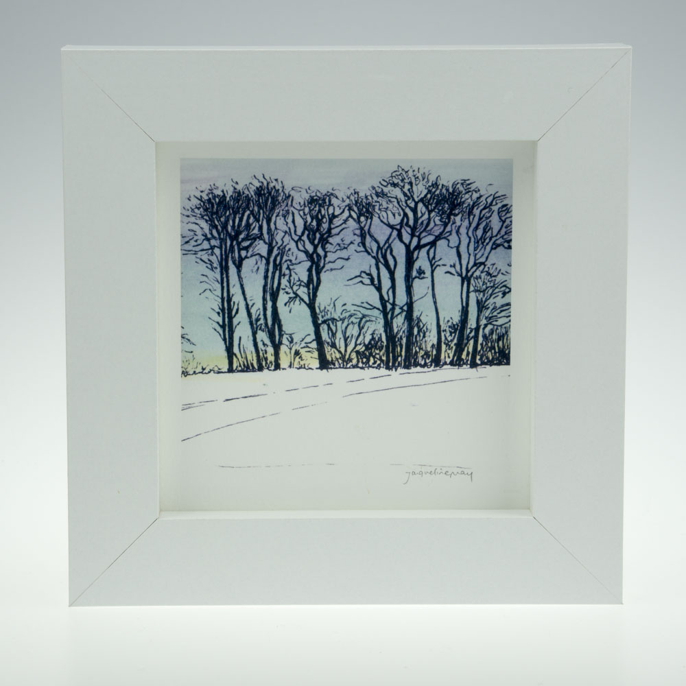 'Upton Trees-Blue Sky'-framed print -Upton House