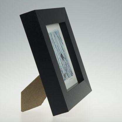 'Garden Robin on Blue'-framed print -Artists Garden in January