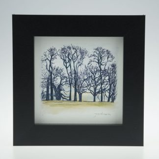 'Upton Trees-Green Grass'-framed print -Upton House