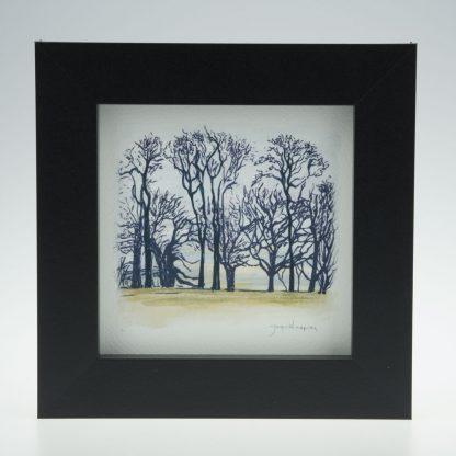 'Upton Trees-Green Grass'-framed print -Upton House