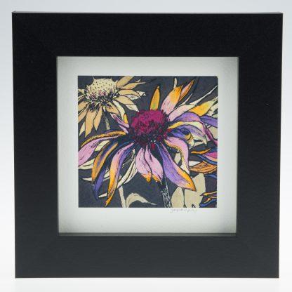 Echincea on Umber-Framed Prints - Small Square-Pensthorpe Natural Park