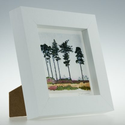 'Six Spring Pines'-framed print -RSPB The Lodge