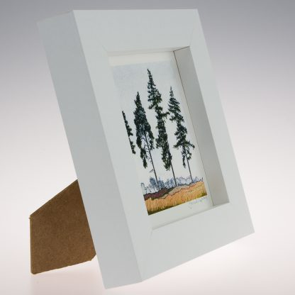 'Four Spring Pines'-framed print -RSPB The Lodge
