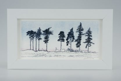 'Nine Winter Pines'-Framed print -RSPB The Lodge