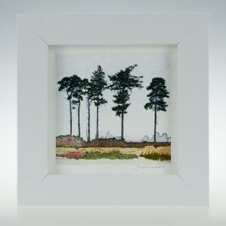 'Six Spring Pines'-framed print -RSPB The Lodge