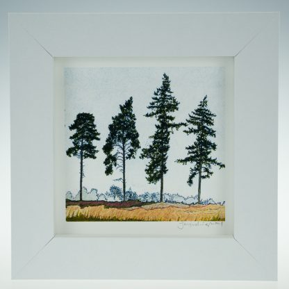 'Five Spring Pines'-framed print -RSPB The Lodge
