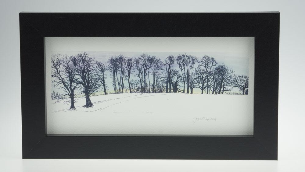 'Upton Trees-Blue Sky'-framed print -Upton House