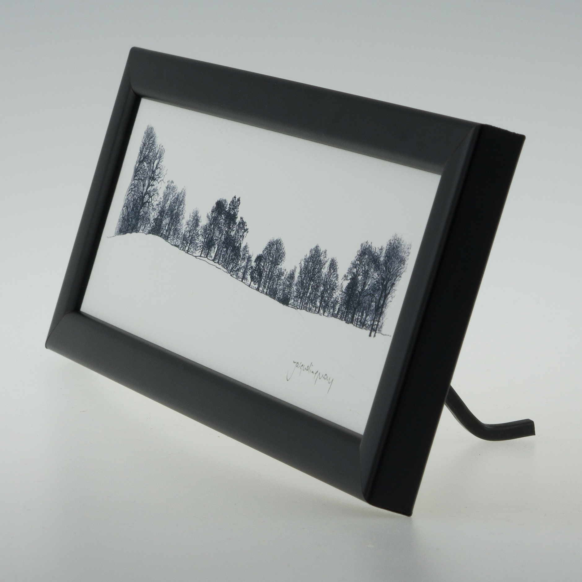 Bare Winter Trees Framed Print Jacqueline May Designs