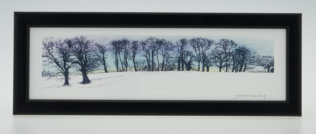 Upton Trees-Blue Sky-Framed Prints-Upton House