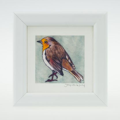'Stoneywell Robin'-framed print -Stoneywell Cottage