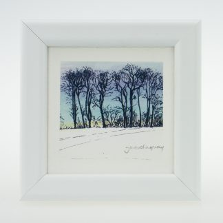 Upton Trees-Blue Sky-Framed Prints-Upton House