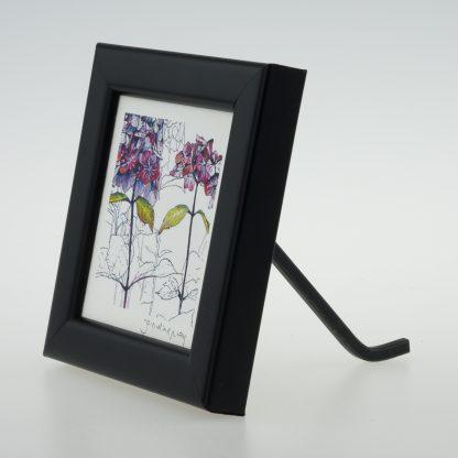 'Purple Hydrangea' centre-framed print -Stoneywell Cottage