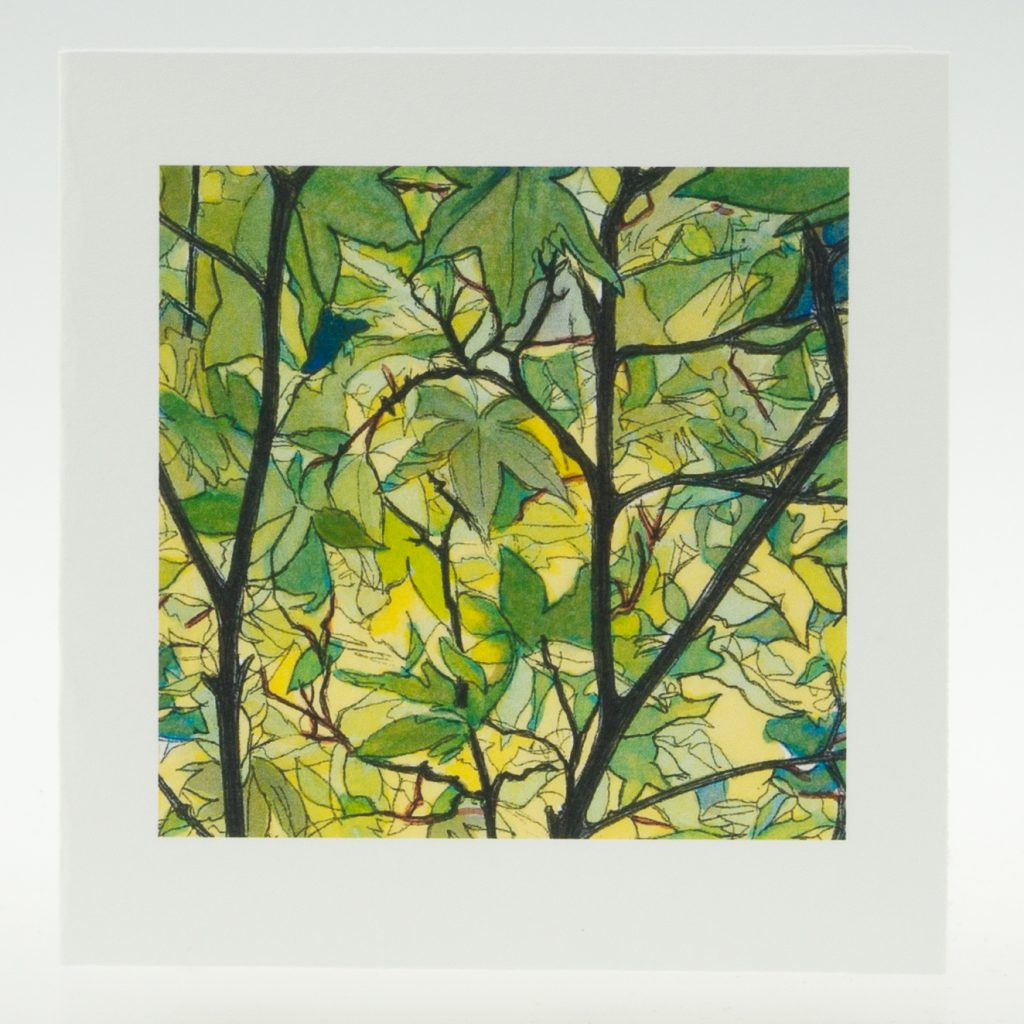 'Tree Canopy' detail 1-greeting card-Stoneywell Cottage