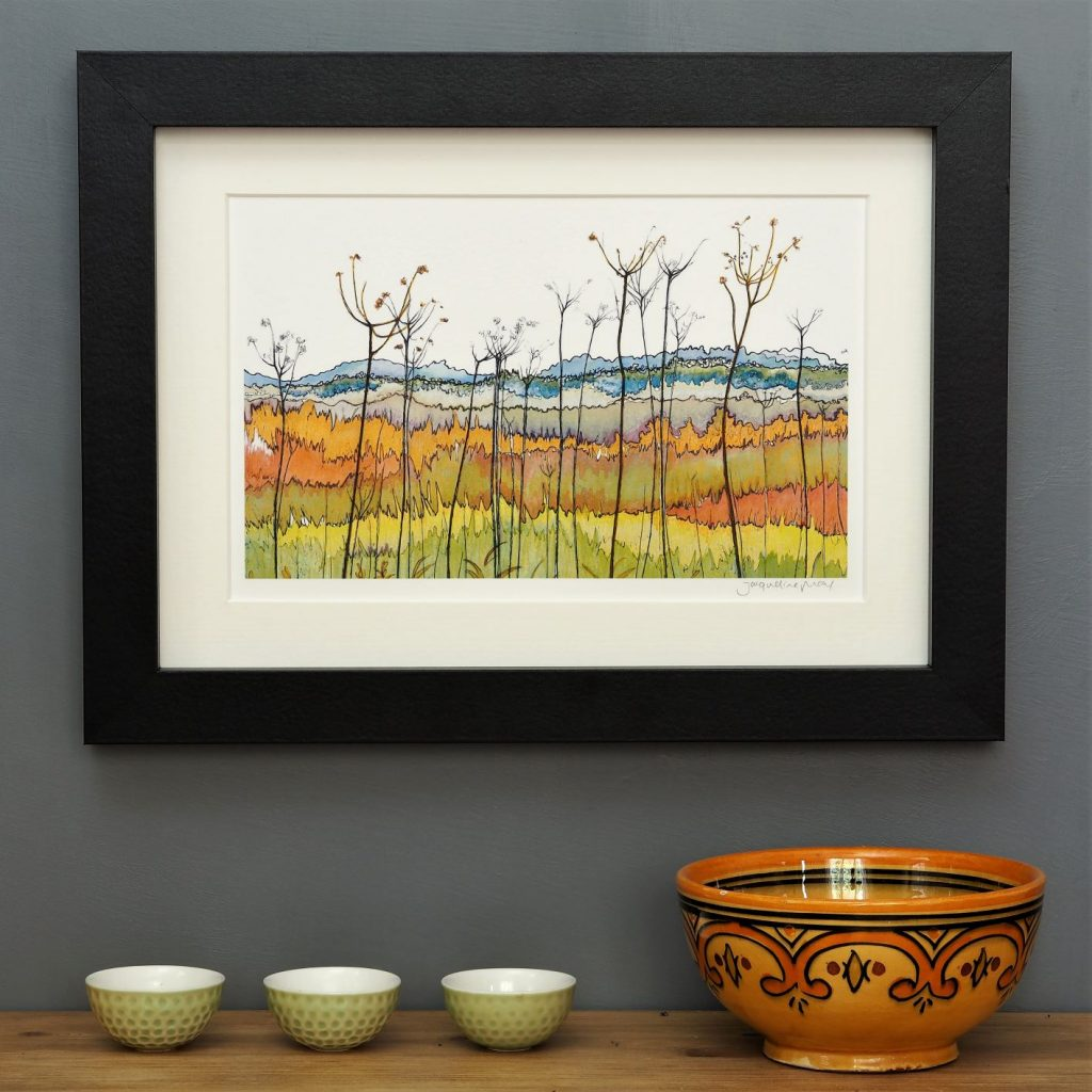 'Banks of the Yare' SMALL mounted print