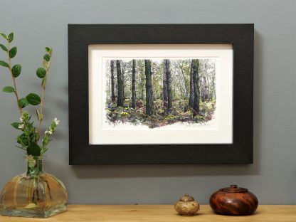'Bracken Wood Landscape' mounted art print