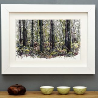 'Bracken Wood Landscape' mounted art print