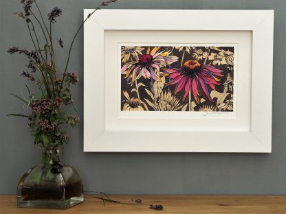 'Echinacea on Umber' MINI mounted print