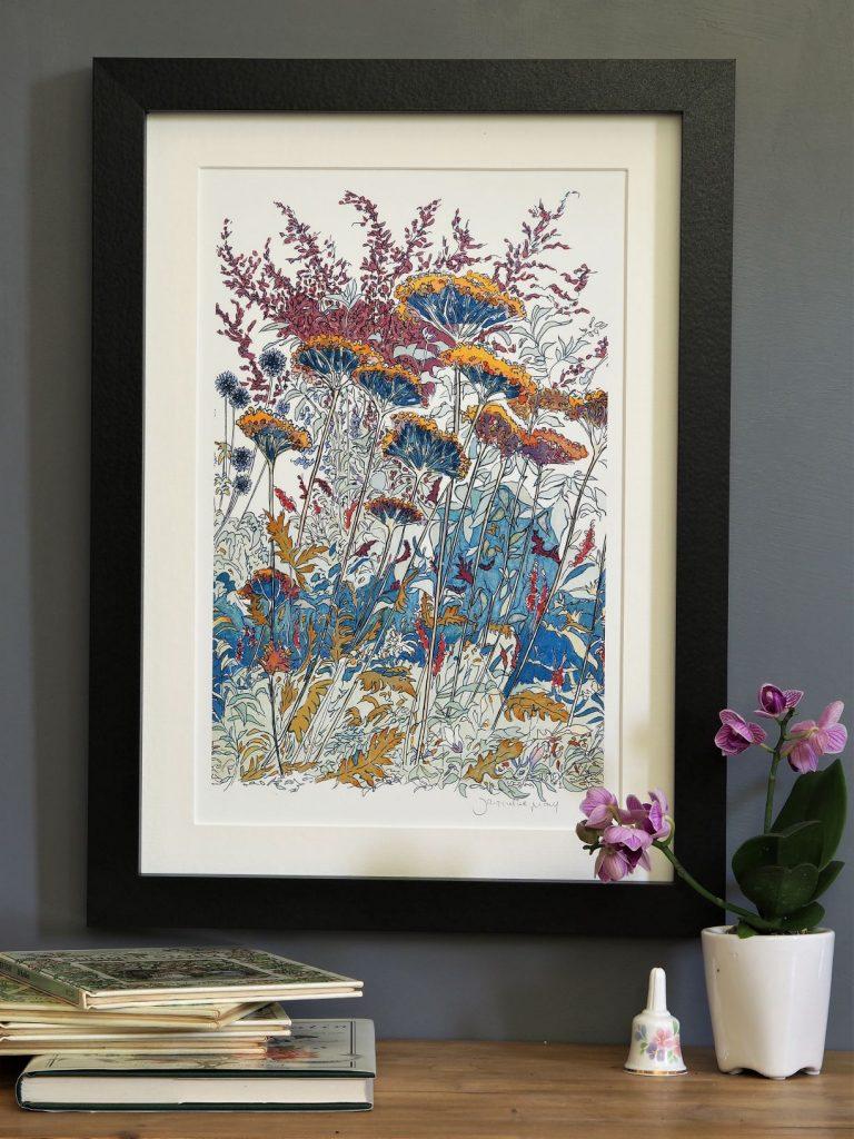 'Late Summer -detail 2'-MEDIUM mounted print