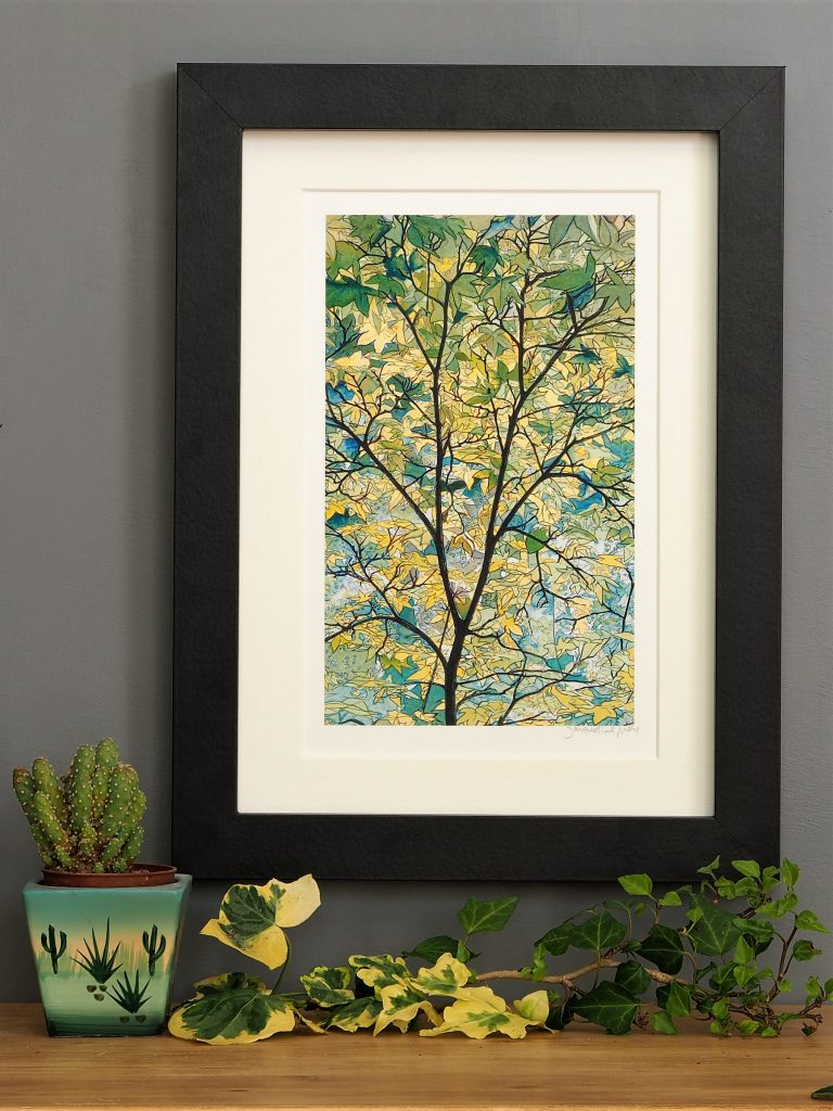 'Tree Canopy' SMALL mounted print-