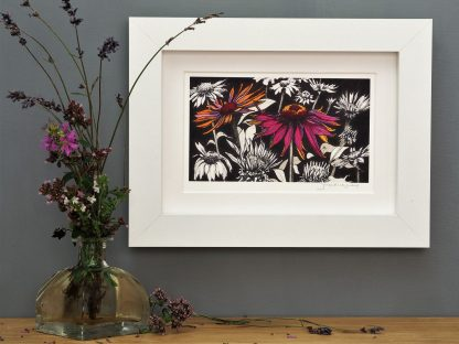'Pink Echinacea' MINI mounted print