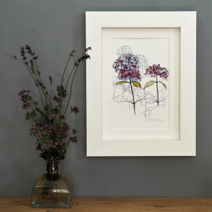 'Purple Hydrangea' MINI mounted print