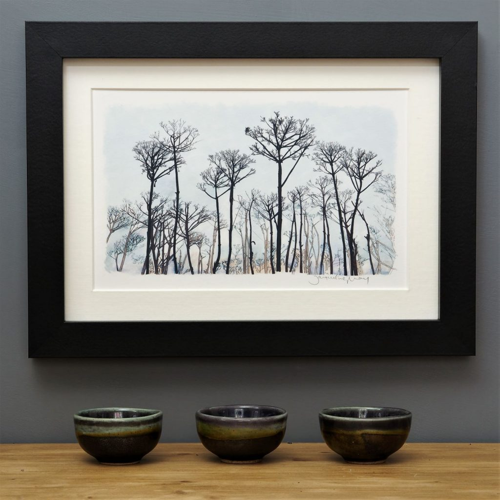 'Seed Head Landscape' SMALL mounted print