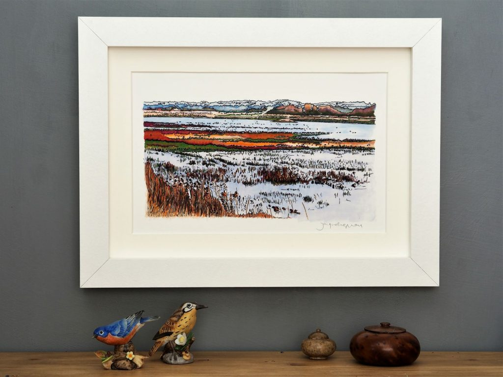 'Titchwell Marsh' SMALL mounted print