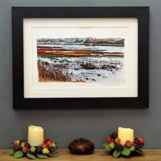 'Titchwell Marsh' SMALL mounted print