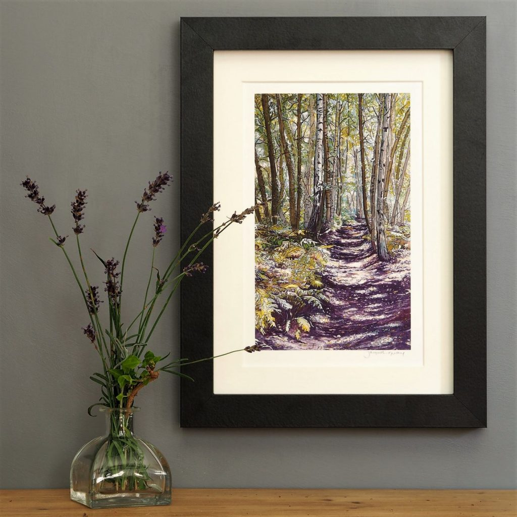 'Unknown Wood' SMALL mounted print-
