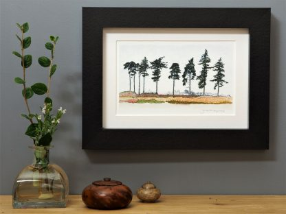 'Nine Spring Pines' MINI mounted print