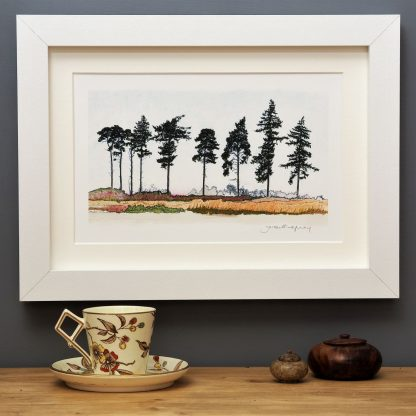 'Nine Spring Pines' SMALL mounted print-