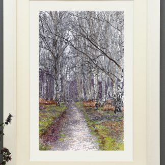 'New Years Walk' mounted print