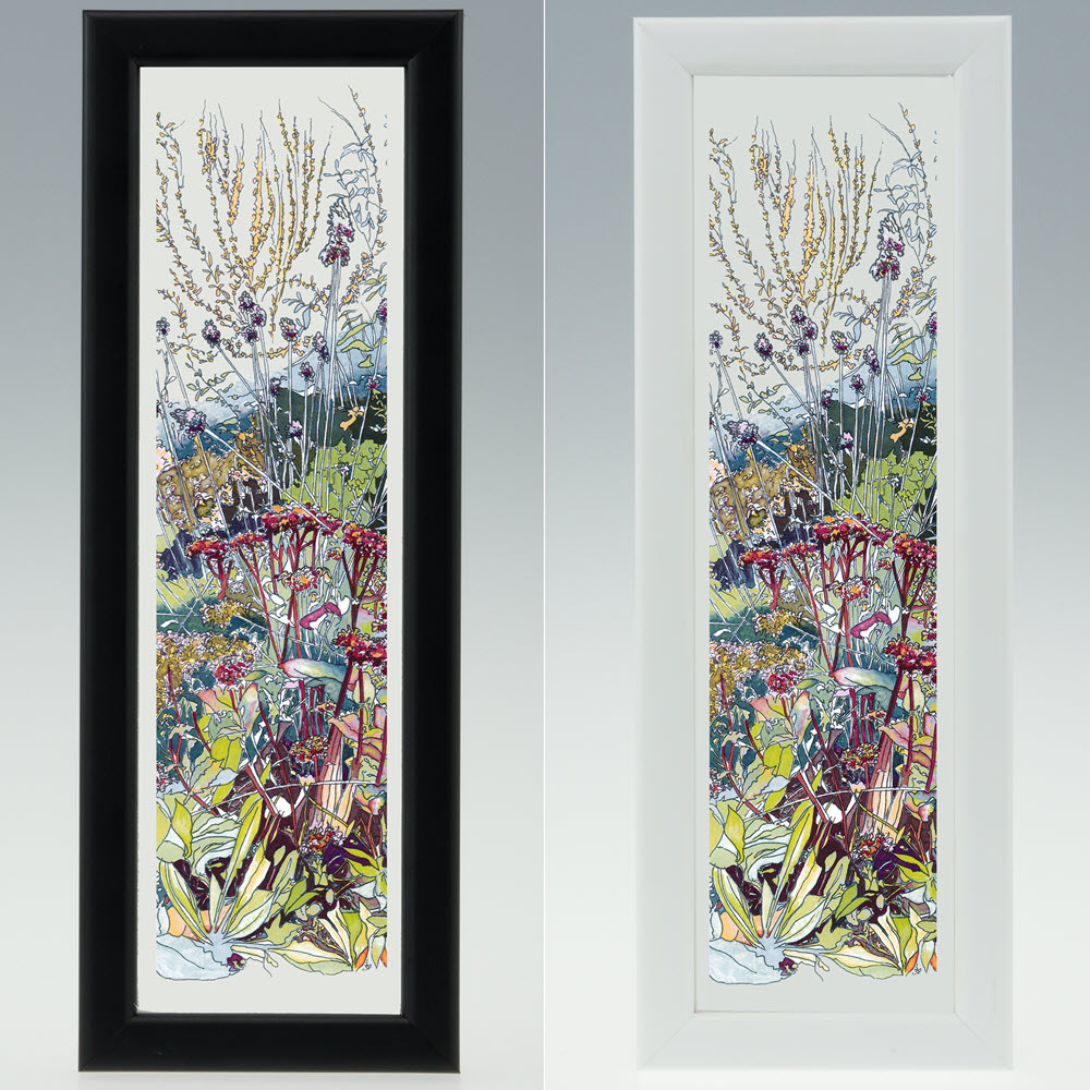 New In The Wild Garden Print In 25x9cm Frame Jacqueline May Designs