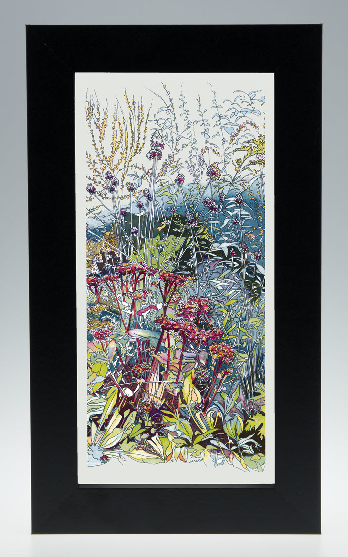 New In The Wild Garden Print In 29x17cm Frame Jacqueline May Designs