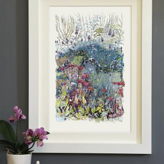 'In the Wild Garden' mounted print